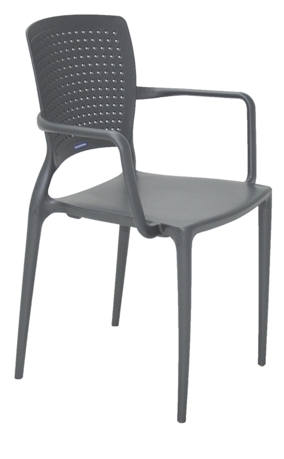 Cadeira Com Braços Safira Grafite