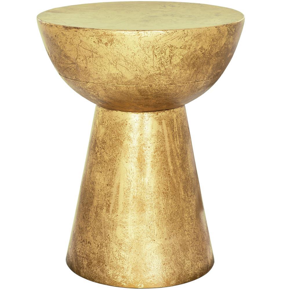 Banqueta em Metal Dourada