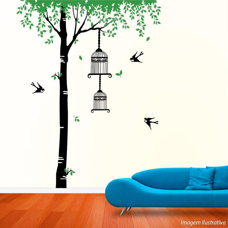 Adesivo Decorativo de Parede Árvore Gigante 1,85x2,40m