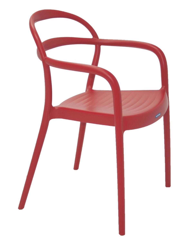 Cadeira Com Braços Sissi Vermelho