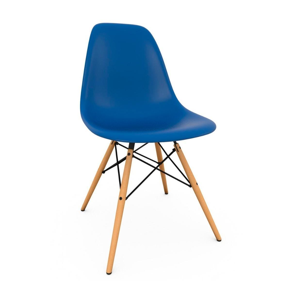 Cadeira Eiffel Base Madeira Azul