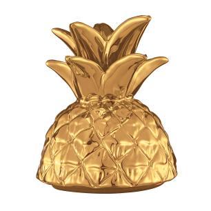 Abacaxi em Cerâmica Dourado
