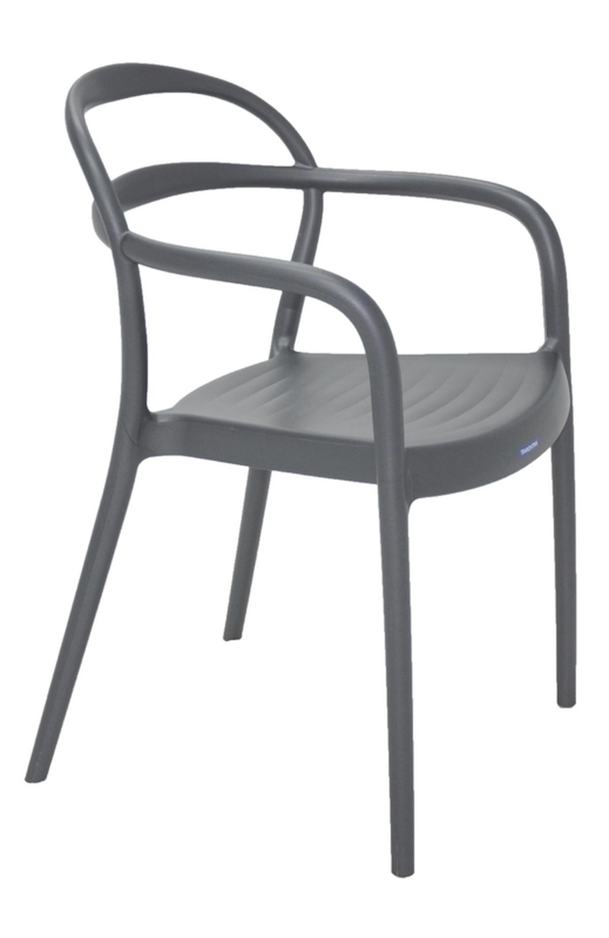 Cadeira Com Braços Sissi Grafite