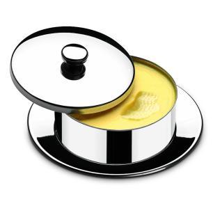 Manteigueira Redonda Com Pires Atina 130 g