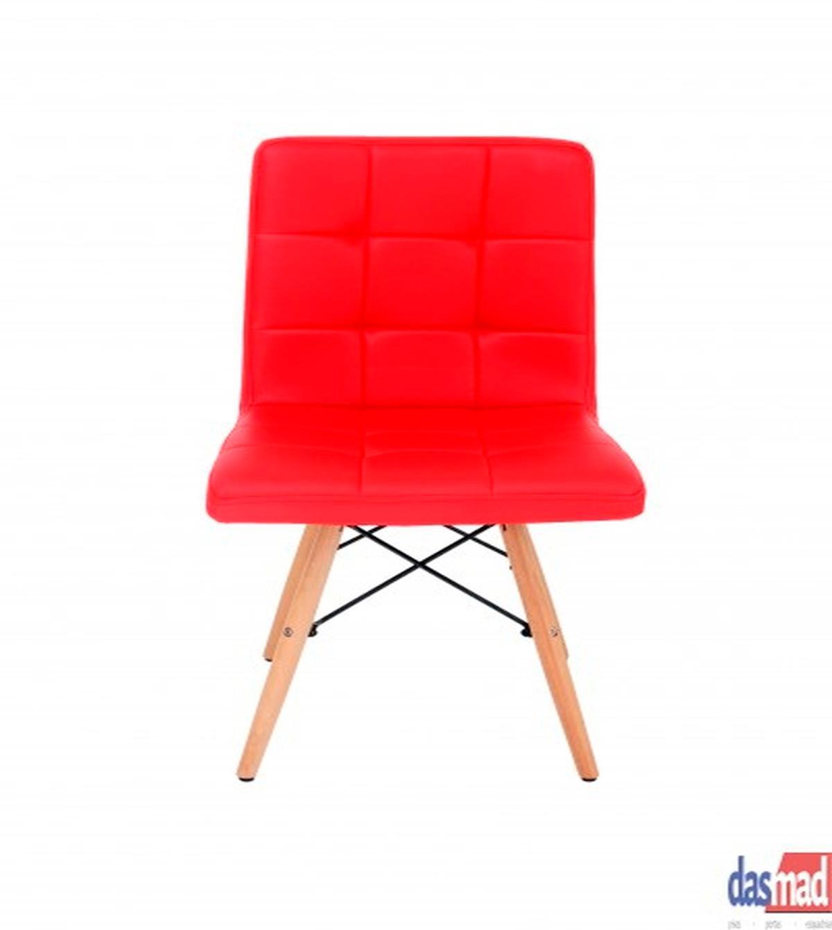Cadeira Gomos Base Madeira Vermelha