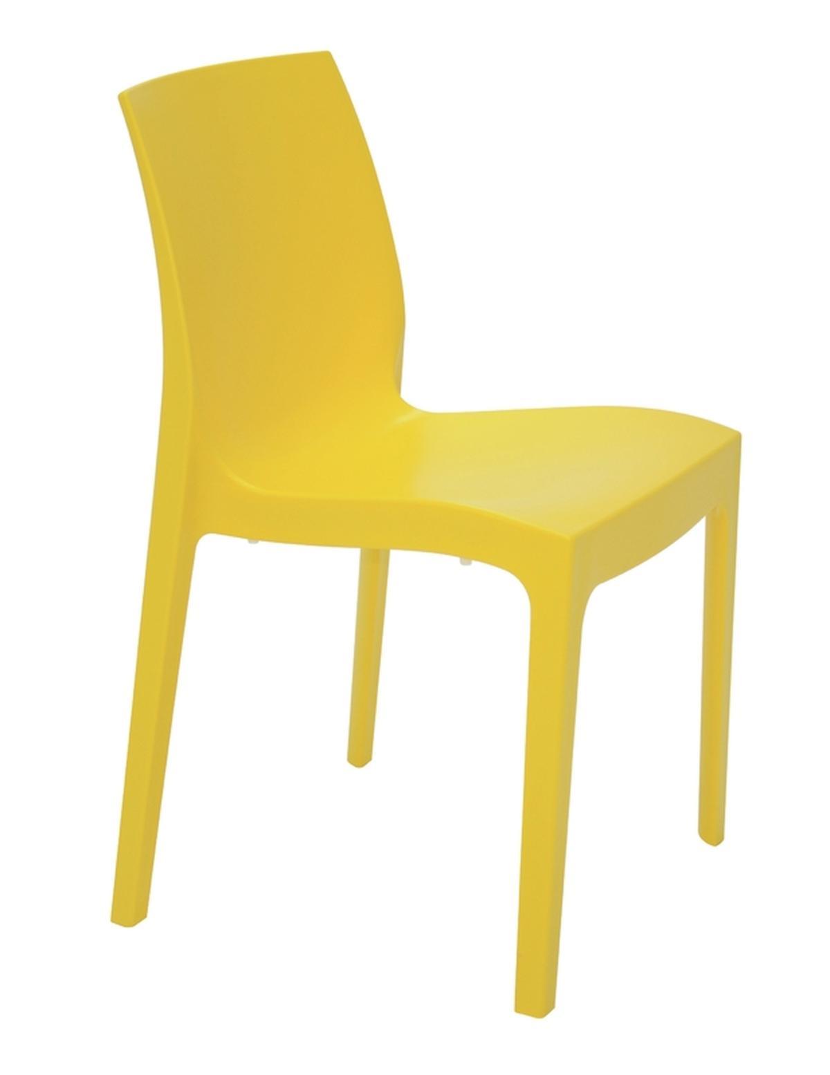Cadeira Alice Satinada Amarelo
