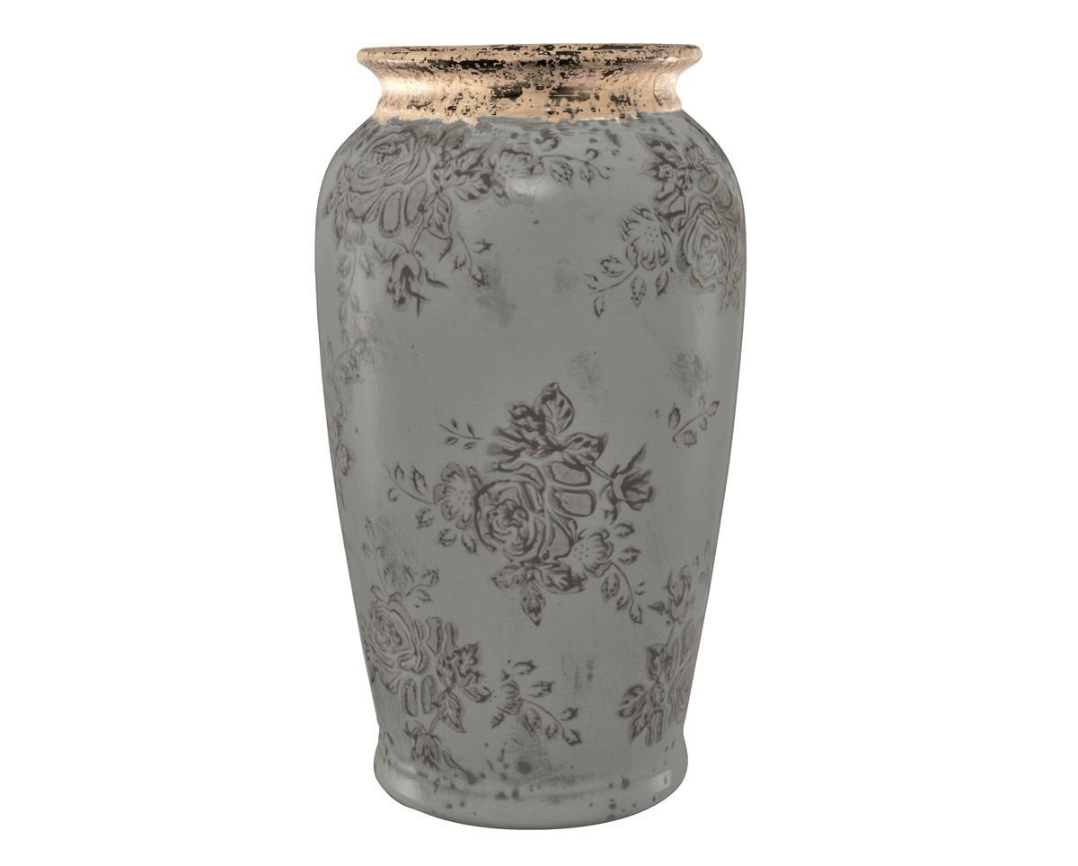 Vaso em Cerâmica Azul