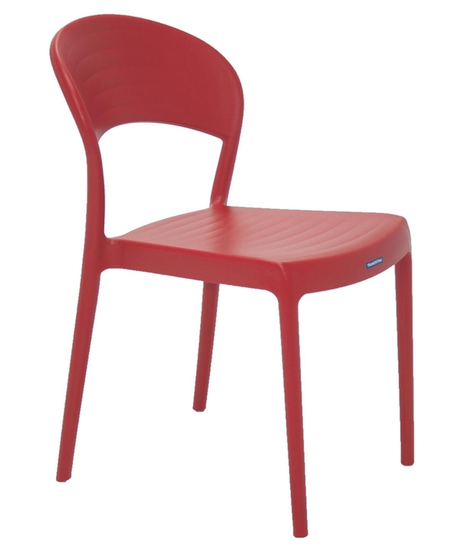 Cadeira Sissi Encosto Fechado Vermelho