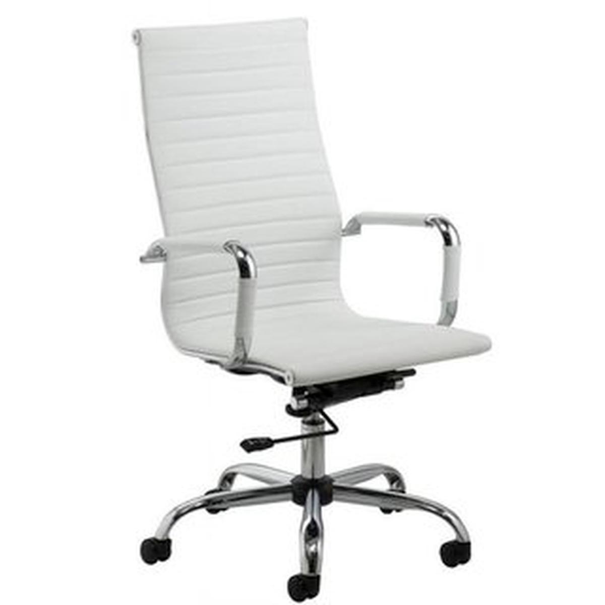 Cadeira De Escritório Stripes Presidente Branca