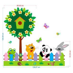 Adesivo Decorativo Infantil Safari 17 1,25x1,40cm