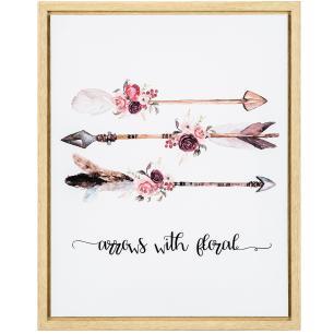 Quadro Em Canvas Flechas Rose