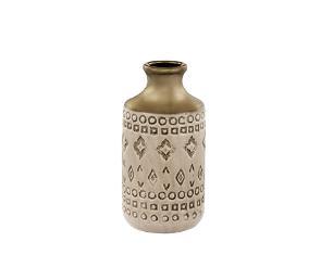 Vaso Em Ceramica Nude   10,5x20,5Cm