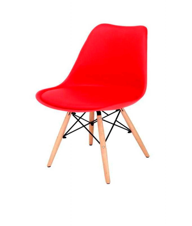 Cadeira Saarinen Torre Base Madeira Vermelha