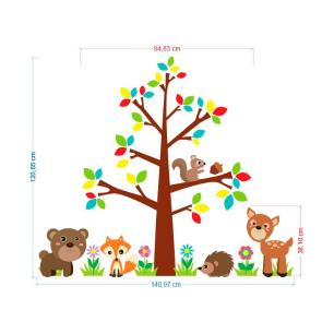 Adesivo Decorativo Infantil Safari 12 1,20x1,40cm