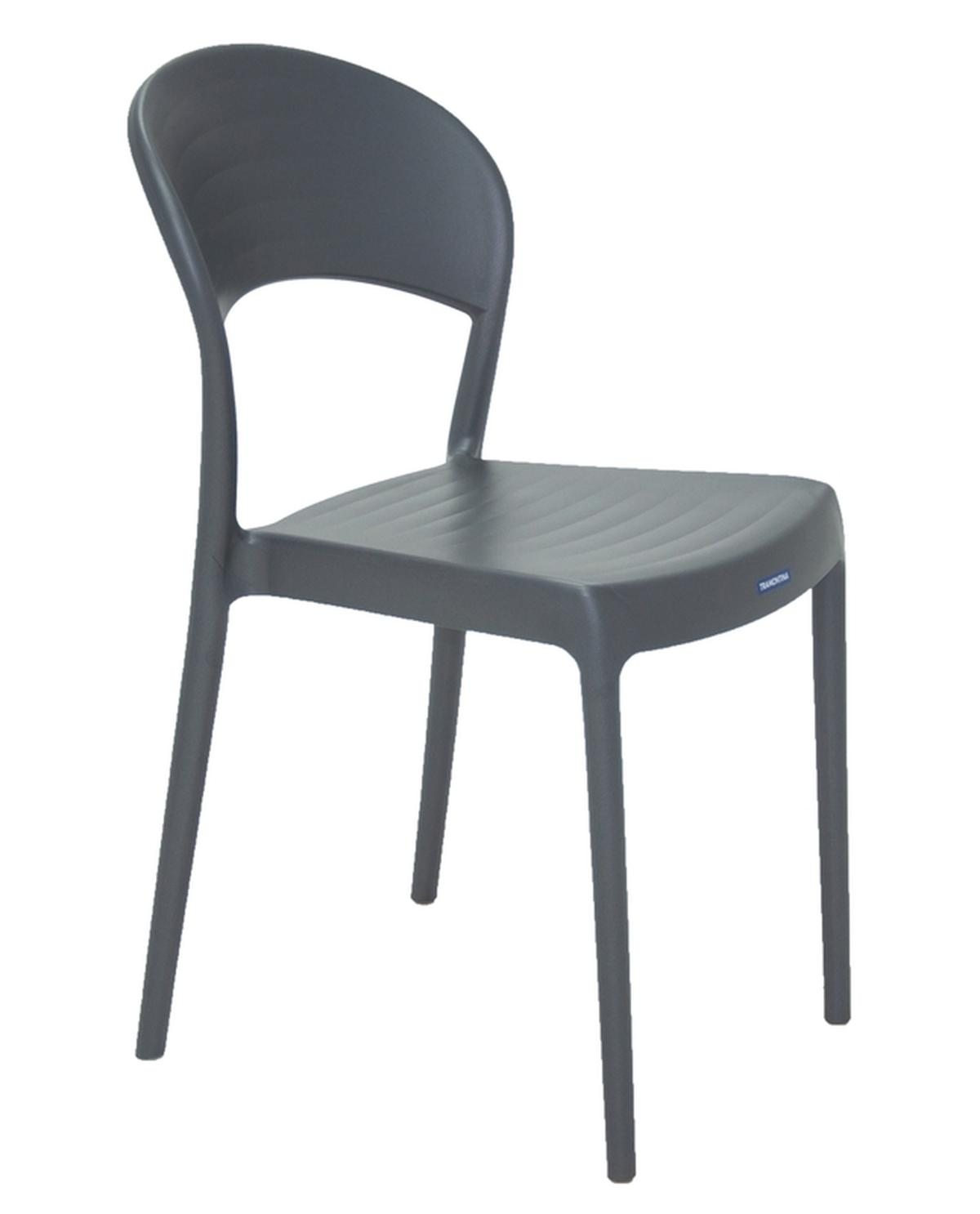 Cadeira Sissi Encosto Fechado Grafite