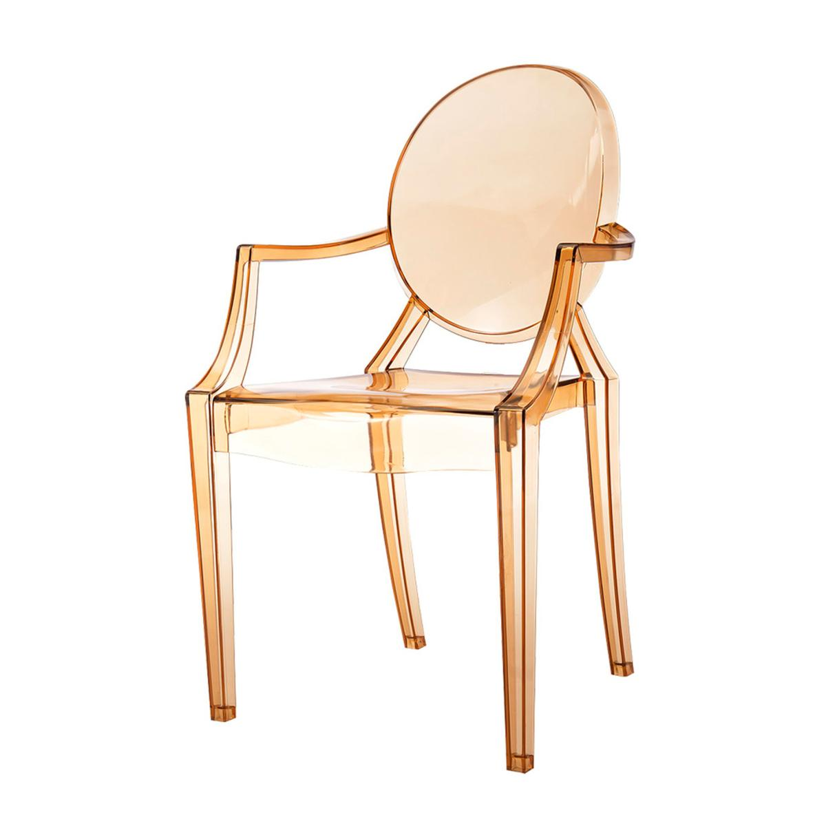 Cadeira Louis Ghost âmbar