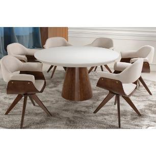 Sala de Jantar 1,40 x 1,40 - 06 Cadeiras Giratórias