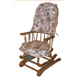 Cadeira de Balanço 1,18 x 50 x 50 Com Almofadas - Móveis de Gramado