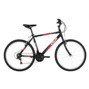 CLIQUE ➤➤ Bicicleta Caloi Aro 26 – 21 Marchas Aluminum 2015 Lazer Preta   oferta com preço barato em Promoção no site de loja