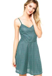 CLIQUE ➤➤ Vestido Luli Mulher Geométrico Verde/Azul   oferta com preço barato em Promoção no site de loja