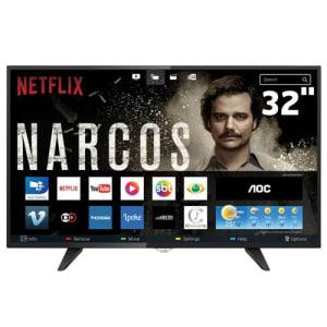 Oferta ➤ Smart TV LED 32″ HD AOC LE32S5970 com Wi-Fi, Miracast, App Gallery, Conversor Digital Integrado, Entradas HDMI e USB   . Veja essa promoção