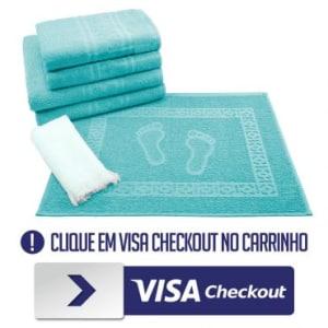 216857ccbd Jogo de Banho 6 peças Toalhas 100% Algodão 250 g m² Linha Nuance Azul