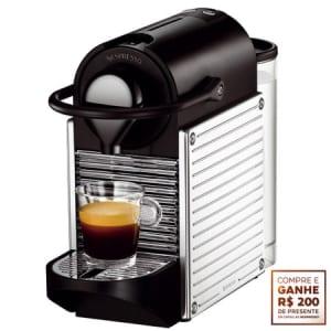 CLIQUE ➤➤ Cafeteira Expresso Nespresso, Pixie Steel – C60 + R$ 200,00 em Cápsulas   oferta com preço barato em Promoção no site de loja