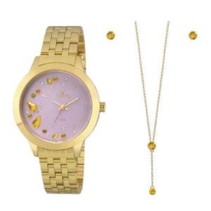 a924805451b Relógio Feminino Allora Analogico Pulseira De Aço Caixa De 4 Cm Resistente  À Água 5 Atm