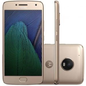 CLIQUE ➤➤ Smartphone Motorola Moto G5 Plus TV Digital 32GB XT1683 Dourado   oferta com preço barato em Promoção no site de loja