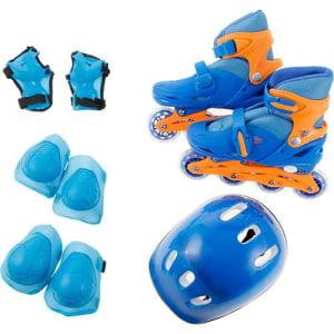 Oferta ➤ Kit Patins Infantil Tamanho 35-38 Azul BW0010 – brink+   . Veja essa promoção