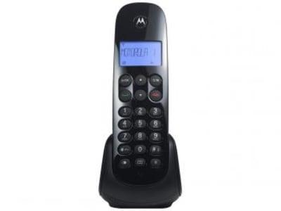 Telefone Sem Fio Motorola MOTO700 - Identificador de Chamada Preto