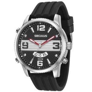 CLIQUE ➤➤ Relógio Masculino Analógico Seculus 28480G0SVNU1 – Preto   oferta com preço barato em Promoção no site de loja