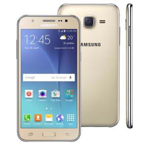 CLIQUE ➤➤ Smartphone Samsung Galaxy J5 Duos Dourado com Dual chip, Tela 5.0″, 4G, Câmera 13MP, Android 5.1 e Processador Quad Core de 1.2 Ghz   oferta com preço barato em Promoção no site de loja
