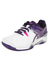 Oferta ➤ Tênis Asics Gel-Resolution 6 Clay Branco/Roxo   . Veja essa promoção