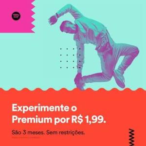 CLIQUE ➤➤ 3 Meses de Spotify Premium Po R$1,99   oferta com preço barato em Promoção no site de loja