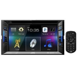 """CLIQUE ➤➤ Central Multimídia JVC – DVD/CD/USB/iPod/iPhone/Android 6,2"""" Touch com Controle de Gestos – KW-V11   oferta com preço barato em Promoção no site de loja"""