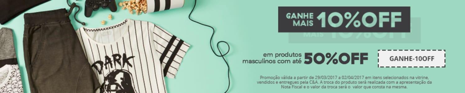 CLIQUE ➤➤ Cupom de 10% Em Itens Masculinos C&A   oferta com preço barato em Promoção no site de loja