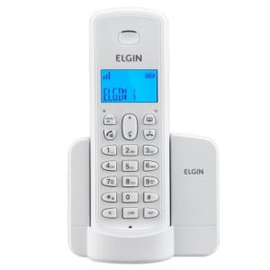 Telefone Elgin TSF8001 Branco sem fio - tecnologia DECT 6.0, display iluminado, Identificador de chamadas, viva-voz, localizador de monofone, agenda