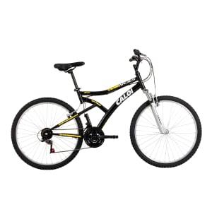 CLIQUE ➤➤ Bicicleta Caloi Aro 26 – 21 Marchas Andes Mountain Bike Preta   oferta com preço barato em Promoção no site de loja