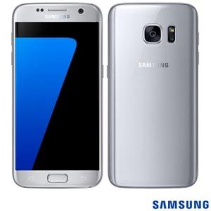 """CLIQUE ➤➤ Samsung Galaxy S7 Prata, com Tela de 5.1"""", 4G, 32 GB e Câmera de 12 MP – SM-G930F – SGG930PTA   oferta com preço barato em Promoção no site de loja"""