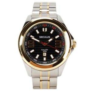 3791e4ef228 Relógio Masculino Analógico Seculus 28588GPSVBA1 – Cromado Dourado