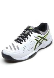 CLIQUE ➤➤ Tênis Asics Gel-Dedicate 4 A Branco/Preto   oferta com preço barato em Promoção no site de loja