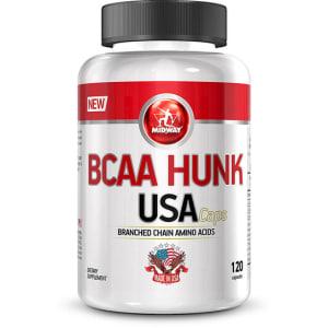 CLIQUE ➤➤ BCAA Hunk USA 120 Cáps – Midway   oferta com preço barato em Promoção no site de loja