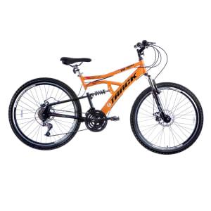 CLIQUE ➤➤ Bicicleta Track Bikes Aro 26 – 21 Marchas TB 500 Lazer Laranja   oferta com preço barato em Promoção no site de loja