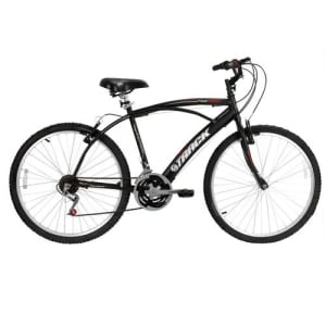 CLIQUE ➤➤ Bicicleta Aro 26 Track & Bikes Fast Confort 100P com 21 Marchas – Preta   oferta com preço barato em Promoção no site de loja