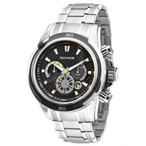 CLIQUE ➤➤ Relógio Masculino Cronógrafo Technos, Com Calendário, Pulseira de Aço Cromada, Caixa 4,5 cm – JS26AC/1P   oferta com preço barato em Promoção no site de loja