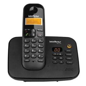Telefone sem Fio Intelbras TS 3130 com Display luminoso, Secretária Eletrônica, Identificador de Chamada e Tecnologia DECT 6.0 - Preto