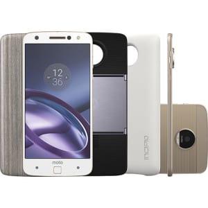 CLIQUE ➤➤ Smartphone Moto Z Power & Projector Edition Dual Chip Android 6.0 Tela 5,5″ 64GB Câmera 13MP – Branco   oferta com preço barato em Promoção no site de loja