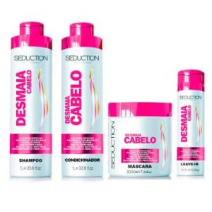 Oferta ➤ Kit Eico Seduction Desmaia Cabelo: Shampoo 1L + Condicionador 1L + Máscara 500g + Leave-in 300g   . Veja essa promoção