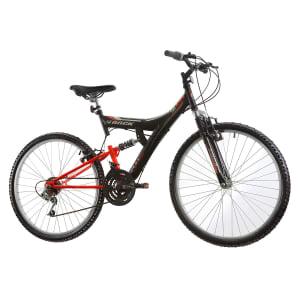 CLIQUE ➤➤ Bicicleta Track Bikes Aro 26 – 18 Marchas TB 100 XS Mountain Bike Preta e Vermelha   oferta com preço barato em Promoção no site de loja